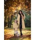 Dívčí zimní kabát A střihu