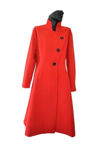 Elegantní vlněný dámský zimní kabát se stojáčkem Exclusive