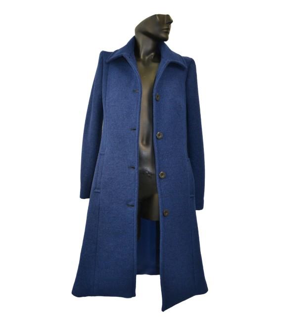 Dámský vlněný kabát se sedlem na zadním díle Exclusive
