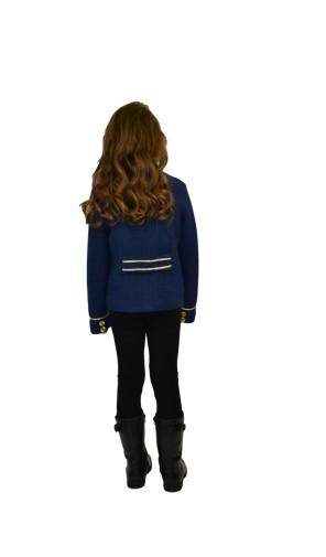 Dívčí vlněný kabát kratšího střihu