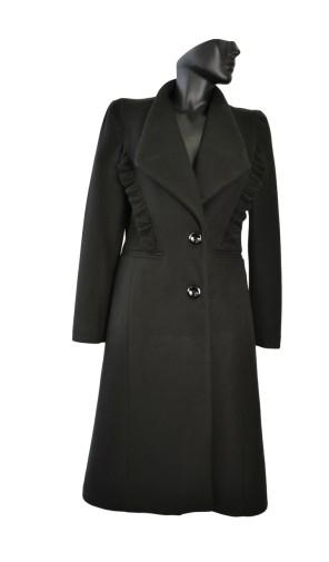 Dámský vlněný kabát s kanýry Exclusive
