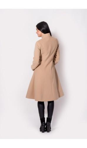 Elegantní dámský zimní kabát se stojáčkem