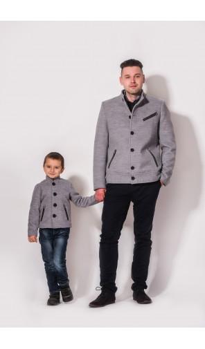 Chlapecký kabát s ozdobnými zipy