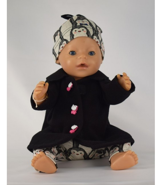 Kabátek černý pro panenku