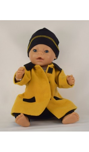 Kabátek hořčicový pro panenku